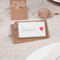 Just My Type Luggage Tag Style Place Cards (50)